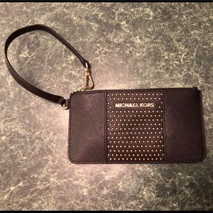 Michael Kors mini black wristlet